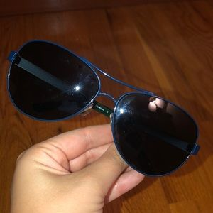 Tory Burch Blue Lined Sunglasses